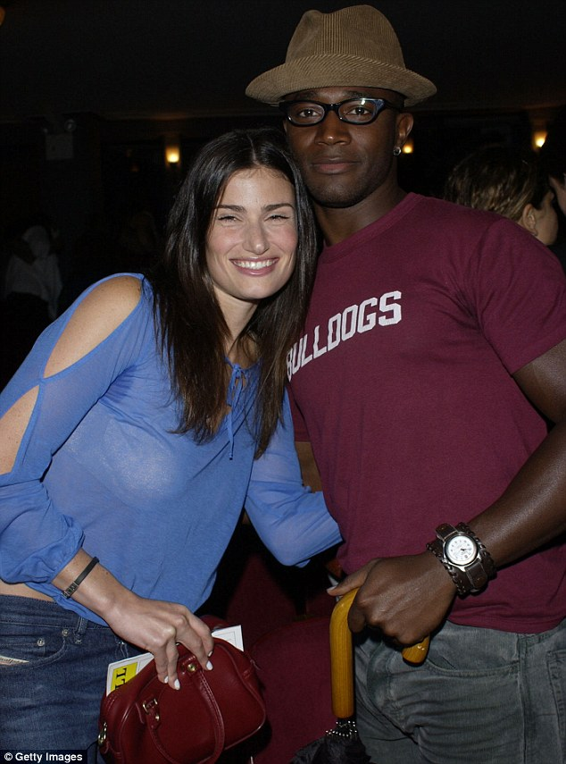 Young love: Taye and Idina at the opening night of Rent on Broadway back in August 2002