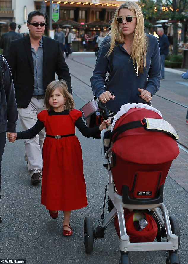 It's the most wonderful time of the year: Busy Philipps took her daughters to meet Santa in West Hollywood on Wednesday