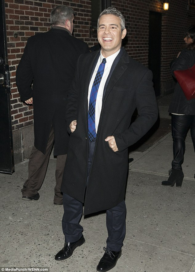Coming up: Andy Cohen also made an appearance on Letterman