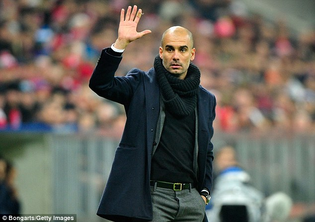 Wave it off: Pep Guardiola has enforced his overwhelming style of football onto Bayern Munich