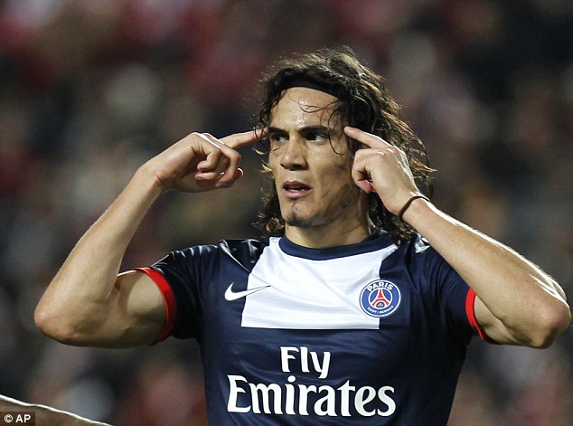 Mind over matter: Uruguayan star Edinson Cavani has had a blistering goalscoring start to live at PSG