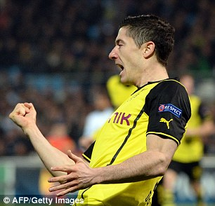Hitman: Polish striker Robert Lewandowski's prowess in front of goal is lethal for Dortmund