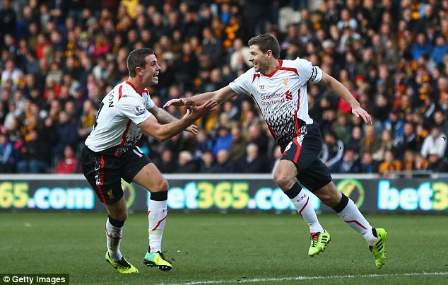 Successor: The 20-year-old is seen as a replacement for ageing star Steven Gerrard