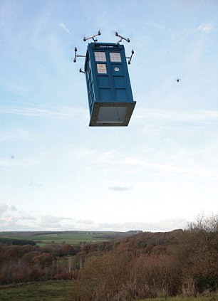 It's off: The phone box makes a positive start, leaving the turf and ascending as planned