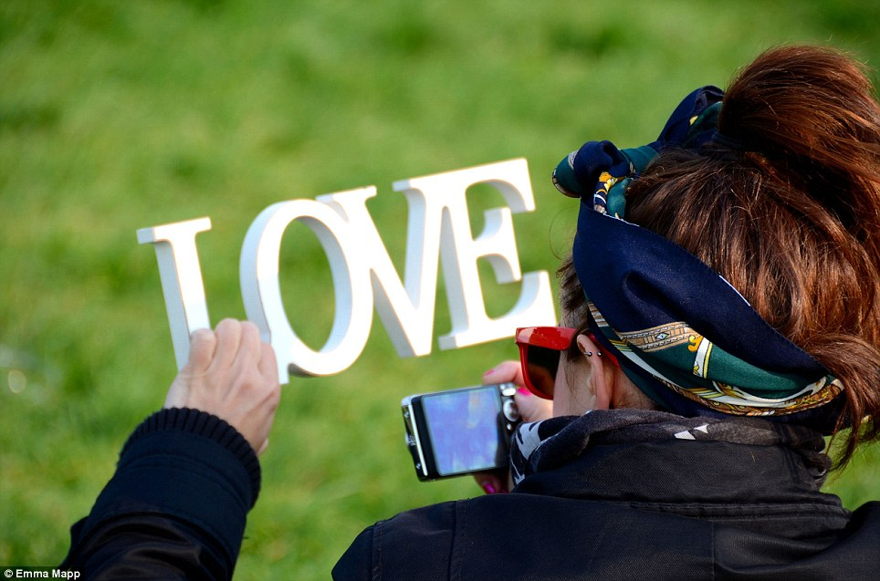 Play on words: Emma Mapp took this on Parliament Hill on the day of Kate and Prince William's Wedding