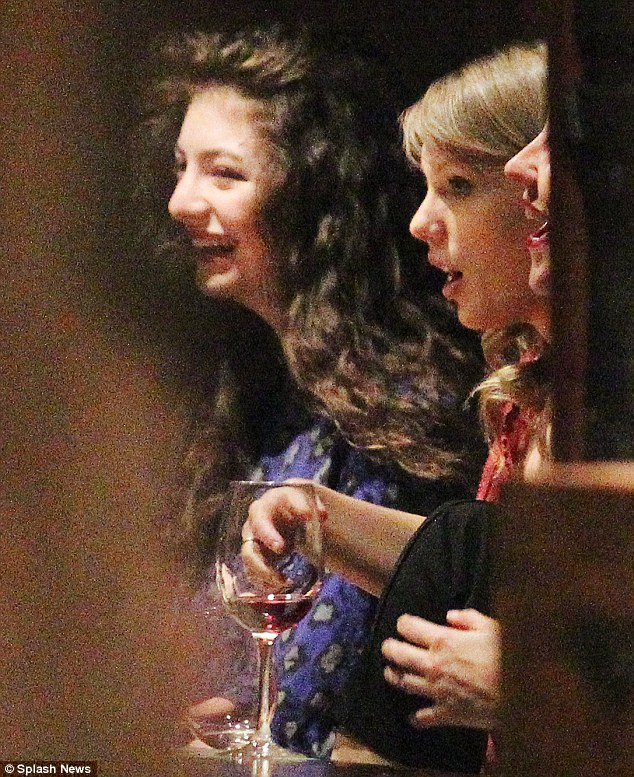 Breaking bread: Taylor Swift dined out with controversial New Zealand singer Lorde on Thursday evening in Melbourne, Australia after the teenage star slammed her BFF Selena Gomez