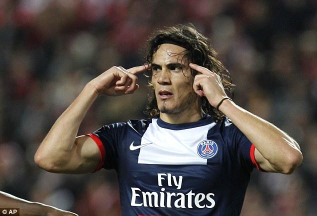 Lethal: Edinson Cavani has proved his worth since leaving Napoli for Paris Saint-Germain last summer