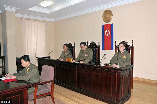 North Korean justice: The tribunal in the capital Pyongyang which apparently ordered Jang Song Thaek's death