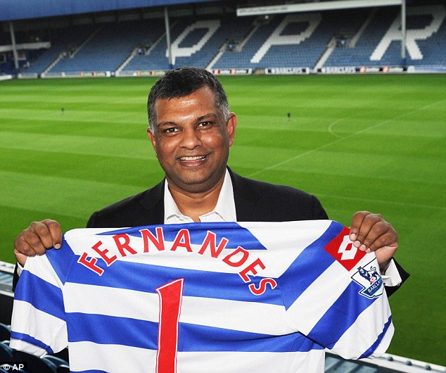 Happy Chairman: Tony Fernandes intends to make QPR a global brand and the club has announced plans for a new 40,000 seater stadium
