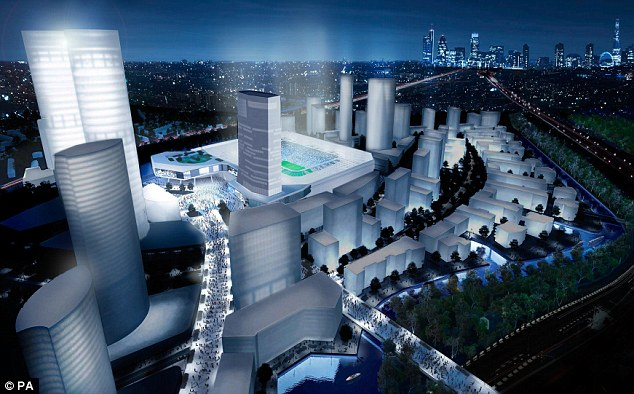 Bright future: The new stadium will change the landscape of west London