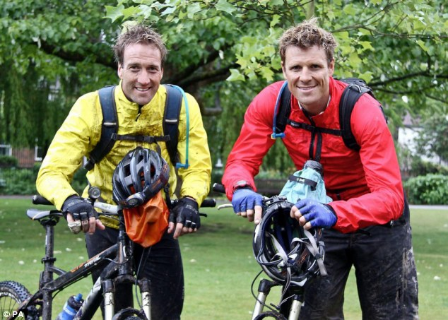 Journey back: Since James, right, suffered a fractured skull after a cycling accident in the US, Ben has been by his side during the recovery
