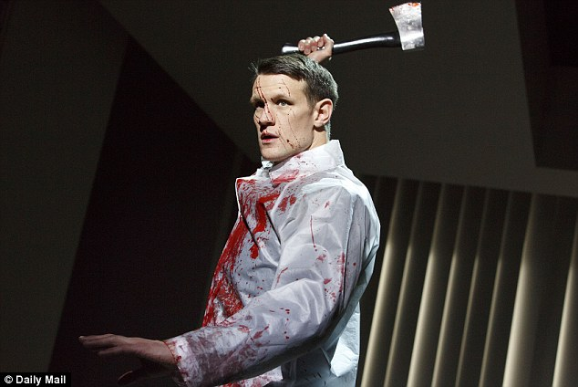 Matt Smith stars as Patrick Bateman in American Psycho at the Almeida Theatre in London
