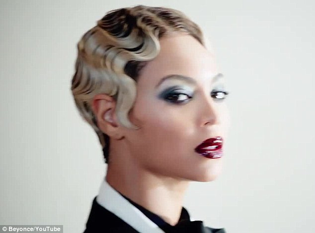 Sculptured: The tight curls and blonde cropped hair are similar to Madonna in her Erotica video