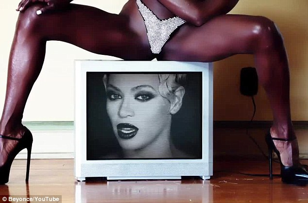 Double vision: The pop icon transferred from the flesh to a TV screen