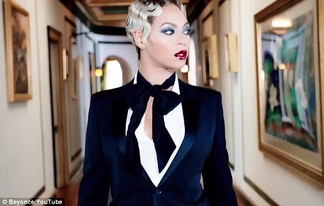 Finger wave: Beyonce has a familiar style to her in the video clip for Haunted that was released on Thursday