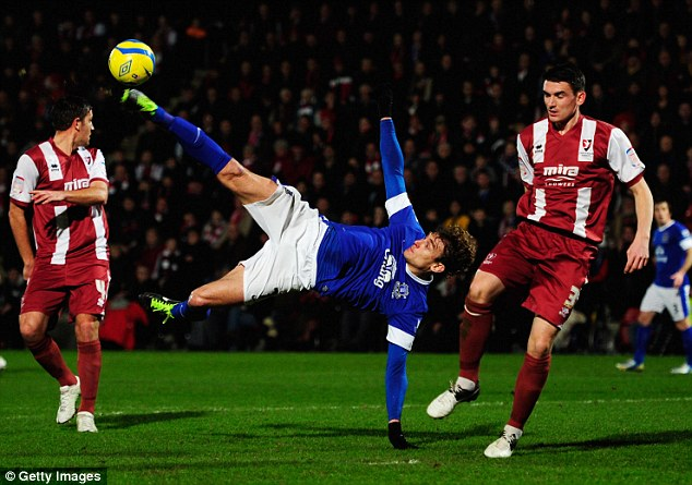 In the balance: Nikica Jelavic is out of favour at Everton since the arrival of Romelu Lukaku