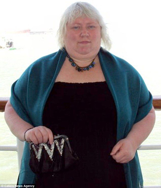 Sonia, pictured a cruise before the weight loss, was 'disgusted' when she saw pictures from the office party