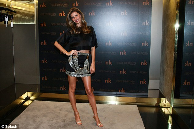 Leggy lady: The star showed why she is the highest-paid model on the planet with her enviable pins