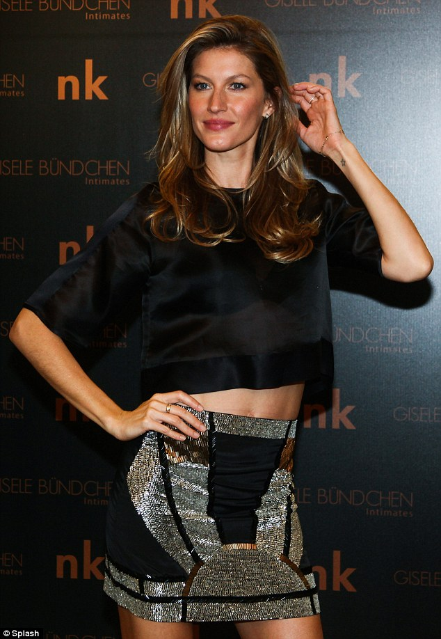 What a poser: Gisele Intimates will be sold in Sao Paulo and Rio De Janeiro to begin with