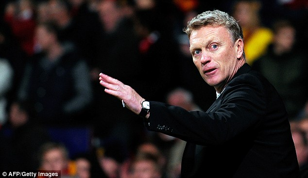 Focused: David Moyes insists United have not given up on getting back into the Premier League title race