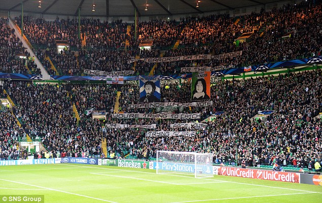 Disrespect: Celtic chief executive said the use of the offending banners showed 'clear disrespect for the club'