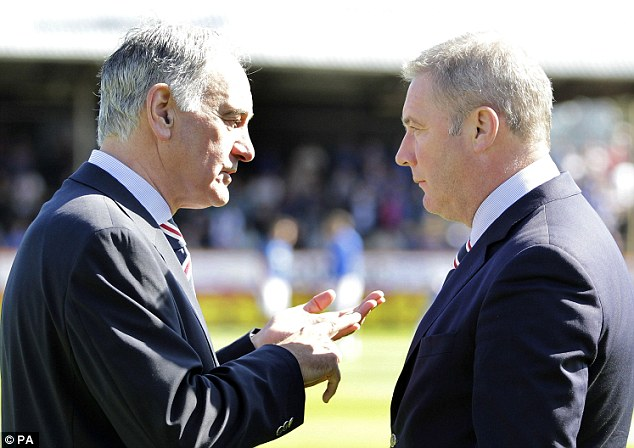 New nemesis: Charles Green (left) didn¿t take very long to make an enemy of McCoist