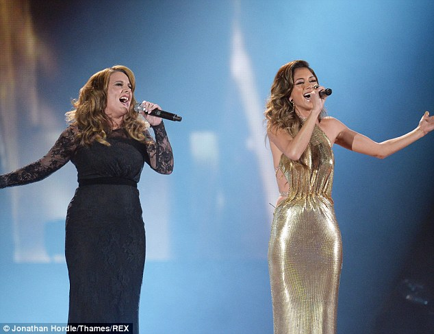 What a performance! Nicole Scherzinger sang with Sam Bailey for her duet performance