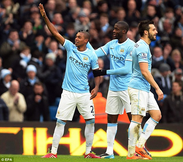 Drought: Fernandinho had been without a goal since his £30m move from Shakhtar in the summer