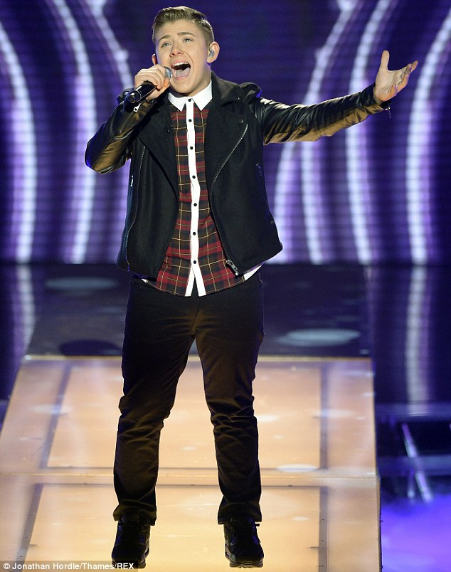 Concerned: Nicholas McDonald has left his mentor Louis Walsh worried ahead of The X Factor final this weekend, due to a rare heart condition