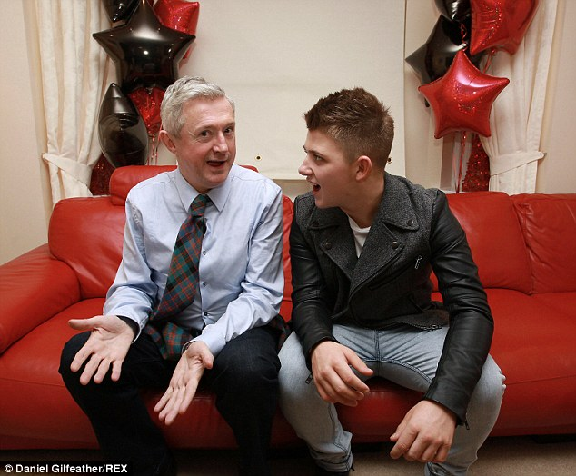 'We want him there': The singer with mentor Louis Walsh, who told The Sun he 'worried about the stress and strain' on Nicholas
