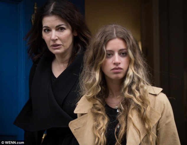Nigella, seen here with her daughter Cosima Diamond, had her assistants take her children on luxury holidays