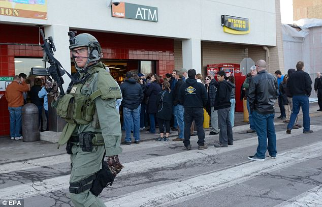 Emergency response: State and local police were joined by SWAT teams on the scene