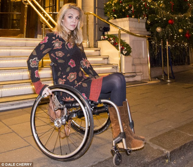 Showed the door: Campaigner Sophie Morgan, who is paralysed from the waist down, was unable to access The Ritz hotel in London through the front entrance