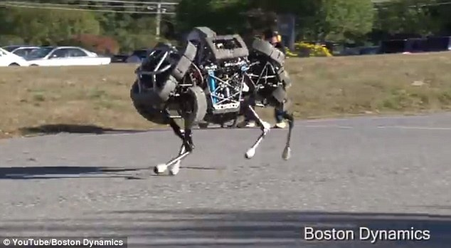 Fast one: WildCat is another of Boston Dynamics' super fast robots. WildCat isn't as fast as Cheetah, but can cover a variety of terrains