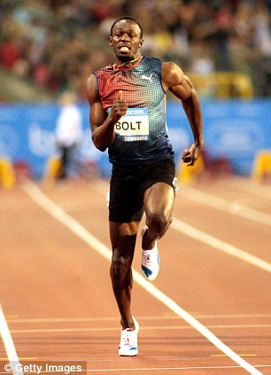 Second place: The robot named Cheetah can run one mile per hour quicker than the world's fastest sprinter, gold-medal Olympian Usain Bolt (pictured)