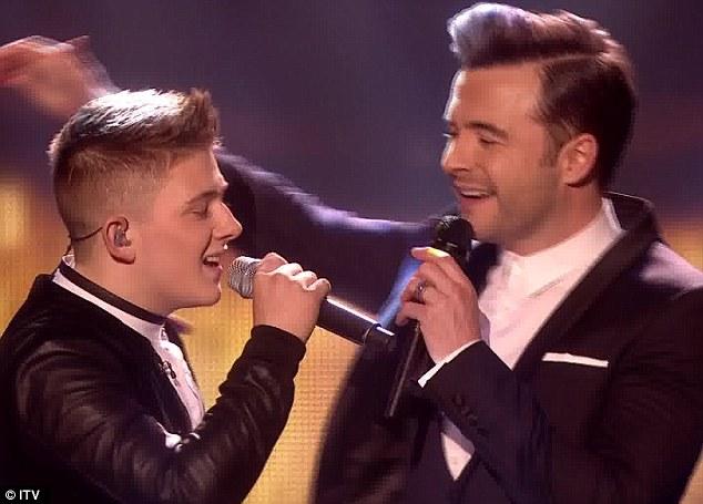 Ballad boy: Shane Filan and Nicholas McDonald sang a classic Westlife song together