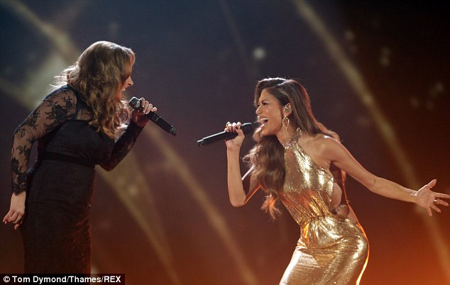 Feeding off each other's energy: Nicole and Sam both looked at each other to make the performance energetic