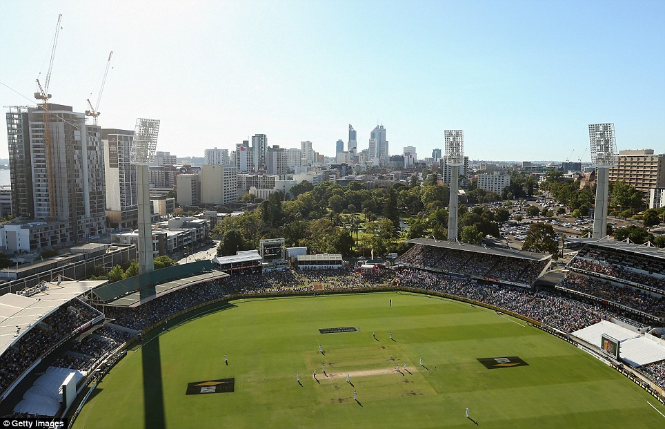 Perth glory: A view of play during day three of the Third Ashes Test Match between Australia and England at WACA - READ PAUL NEWMAN'S STUMPS REPORT