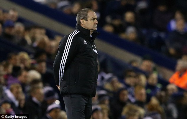 Down and out: Steve Clarke was ousted as West Brom manager after a run of four defeats