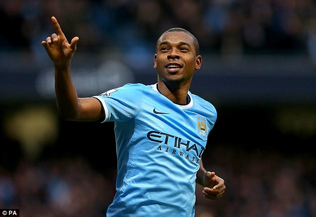 Clicked into place: Summers signing Fernandinho has become a powerhouse in midfield for City
