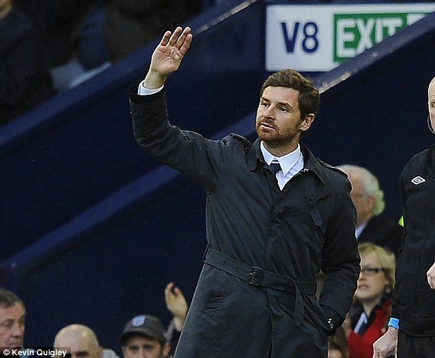 In and out: Villas-Boas took over the Spurs job after Harry Redknapp was sacked in 2012