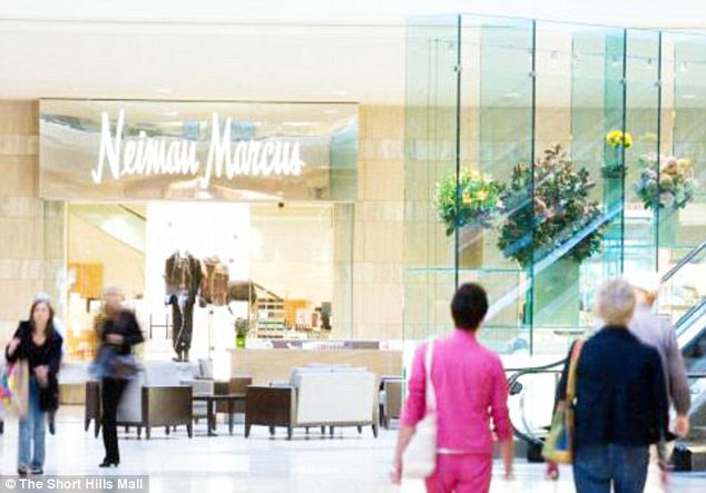 Posh: The high end mall is anchored by Neiman Marcus, Nordstrom, Saks Fifth Avenue, Macy's and Bloomingdale's