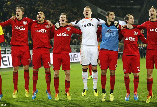 Contenders: Leverkusen are joining in with the party at the top of the Bundesliga