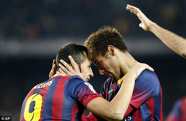 Giants: Brazilian Neymar has lit up La Liga with Lionel Messi injured, and a two-horse race is now a three-horse race