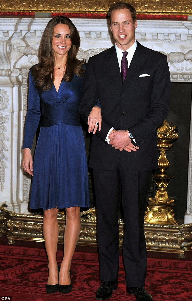 Similar: The dress is similar in style to the blue Issa engagement dress that the former Kate Middleton wore