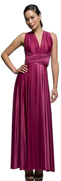 Work it: The dress can be worn as a halter maxi dress or a strapless gown depending on the occasion