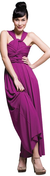 Style it up: Girl Meets Dress advise fashionistas to pair the dress with wedges or ballet pumps for a contemporary day look and glam it up with dazzling jewels and heels at night