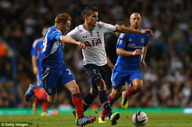 Flop? Club-record signing Erik Lamela hasn't performed as well as his price tag suggests