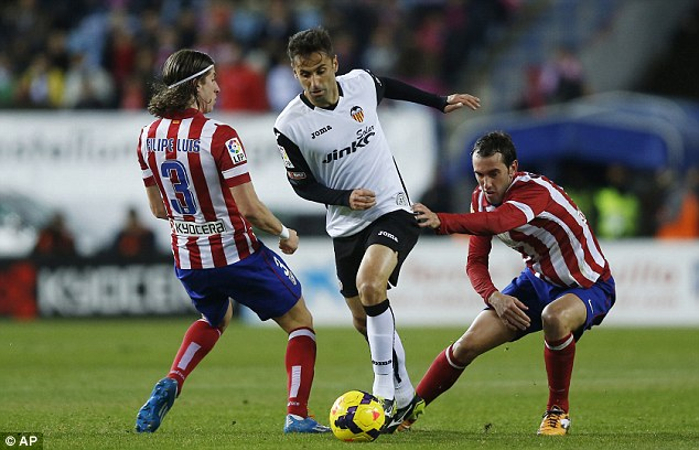 Value: Valencia want £5.3million for the 29-year-old as they continue to redress financial problems