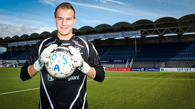 Big move: The 15-year-old was playing his football for Sarpsborg in his native country